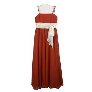 Alfred Angelo Bridesmaid Dress 12 Junior Persimon
